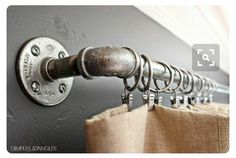 Fixed shower curtain rod for master bathroom