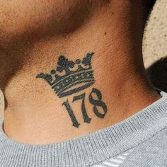 Crown Neck Tattoo For Men