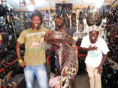 A shop selling carved wooden statues in a market in Accra. Elizabeth von Pier photos.