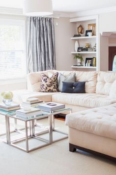 Neutral toned living room: http://www.stylemepretty.com/living/2013/04/08/home-tour-from-watson-studios/ | Photography: Watson Studios - http://watson-studios.com/