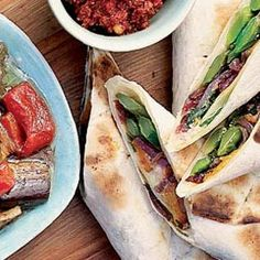 A recipe for vegetarian braai wraps by David Grier. Veggie Recipes, Veggie Food, Vegetarian Options, Vegetable Side Dishes, Eating Well, Fresh Rolls, Bbq, Tasty, Baking