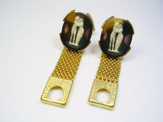 Vintage Cufflinks Faux Cameo The Kiss Greek by unclesteampunk