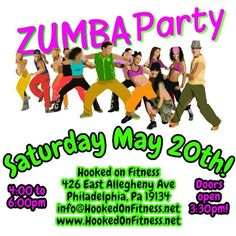 #HookedOnFitness is happy to announce our next #Zumba Party! Come on up and join four great instructors for 2 hours of dancing...  For more information and to purchase your tickets contact us NOW at info@hookedonfitness.net or any of the instructors...  #PhillyPersonalTrainer  #GroupFitness  #FitFam  #BestInPhilly  #BestInPhillyKeepsGettingBetter  http://ift.tt/1Ld5awW Another shot from #HookedOnFitness