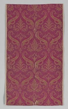 Length of Textile, 1500s Italy or Spain, 16th century brocade; silk, linen, and metal, Average - h:101.10 w:57.20 cm (h:39 3/4 w:22 1/2 inches). Purchase from the J. H. Wade Fund 1954.32