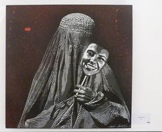 """by Jef Aerosol - """"Burqarnaval"""" - For solo show """"Anony(fa)mous"""" in Rome, Italy - 01.06.2014"""