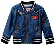 a8ff501d8 Urban Republic Chambray Varsity Jacket (Baby Girls) Chambray, Baby Girls, Nordstrom  Rack