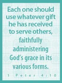 Quick devotion for families: You Can Work as a Family to Serve Others (1 Peter 4:10)