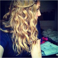 Braid, curly hair