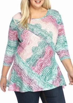 New Directions  Mixed Print Top