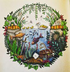 Color book Enchanted forest. Faber castell artist PITT pens