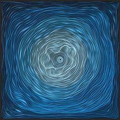 Particle Fever  36×36″ Sculpted canvas and acrylic Artists: STALLMAN – Jason Hallman + Stephen Stum