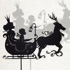 Snowqueen/ Laser cut Shadow Puppet/ Fairy Tale por IsabellasArt