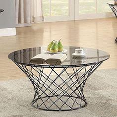 Coaster Round Glass Top Coffee Table in Black Coaster Hom... https://www.amazon.com/dp/B01MTYJKVO/ref=cm_sw_r_pi_dp_x_yXt3ybRD6KZG8