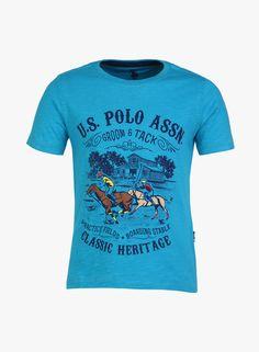 0b0448143 Buy U.S. Polo Assn. Kids Aqua Blue T-Shirt Online - 5783362 - Jabong