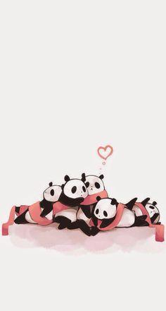 Panda lov e❤️ Cute Panda Wallpaper, Bear Wallpaper, Kawaii Wallpaper, Cute Wallpaper Backgrounds, Cartoon Wallpaper, Cute Images For Wallpaper, Niedlicher Panda, Cartoon Panda, Panda Art