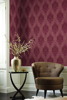 Riverside Park, Fabric Damask: Our delicate florals add warmth and an opulent touch to any scheme.