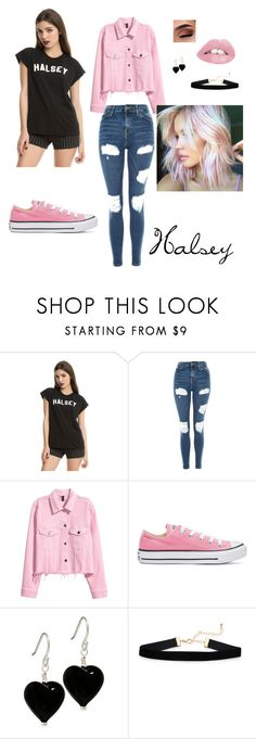 halsey #1 by squiresk-1 on Polyvore featuring Hot Topic, Topshop, Converse and halseyforlife