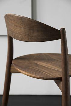 Hozuki by Miyazaki Chair Factory Painted Wooden Chairs, Chair Design Wooden, Furniture Design, Furniture Ideas, Factory Design, Interior Photography, Solid Wood Furniture, Miyazaki, Dining Chairs