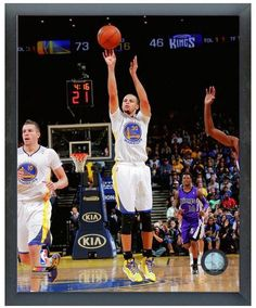 Stephen Curry 2013-2014 Warriors - 11 x 14 Photo in a Glassless Sports Frame