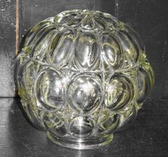 Clear Vintage Fancy Bubble Glass Ball Globe Shade for Swag Hanging Fixture etsy