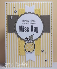 Handmade teacher appreciation card by Lynne using the Teachers Count set from Verve. #vervestamps