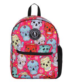 Matching our Pink Mexican Skulls activewear, this backpack is a bright solution for taking your belongings to and from the gym, school or work. The colourful print is contrasted by black zip, cord and netted pocket detail. Also, fab as hand luggage, it meets major airline size specifications.  The soft double straps offer you hands-free travel, fully adjustable to fit an adult or child. Mexican Skulls, Hand Luggage, Free Travel, Pocket Detail, Vera Bradley Backpack, Activewear, Cord, Hands, Bright