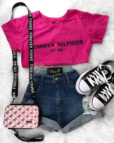 Cute Outfits With Shorts, Boujee Outfits, Cute Lazy Outfits, Trendy Summer Outfits, Teenage Girl Outfits, Tumblr Outfits, Sporty Outfits, Teen Fashion Outfits, Teenager Outfits