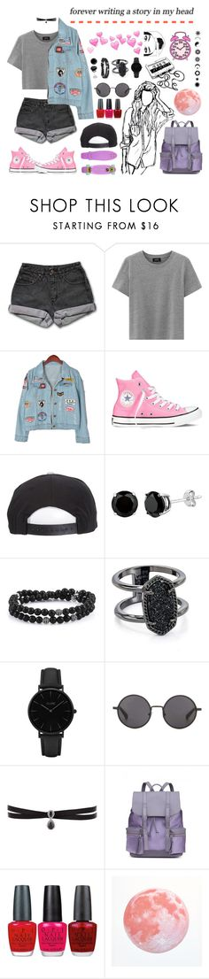 """5H//Nothing like it"" by galaxygirl12427 ❤ liked on Polyvore featuring PèPè, Chicnova Fashion, Converse, Brixton, Kendra Scott, CLUSE, The Row, Fallon and OPI"