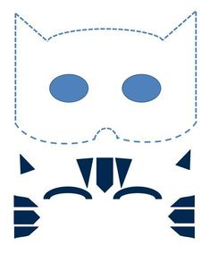 This is an image of Luscious Catboy Mask Printable