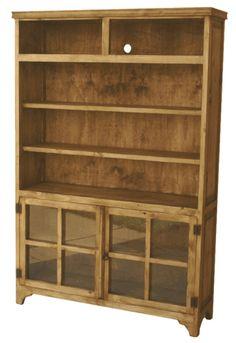 Merida Rustic Pine Wood Bookcase