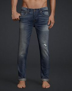 Hollister is the fantasy of Southern California, with clothing that's effortlessly cool and totally accessible. Shop jeans, t-shirts, dresses, jackets and more. Denim Pants Mens, Jeans Pants, Men's Denim, Mens Attire, Mens Suits, Hollister Jeans, Super Skinny Jeans, Teen Fashion, Male Feet
