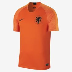 Nike Breathe Holland Home Jersey 2018 Orange Size M Mens Soccer Football Top Premier League, Jersey Shirt, T Shirt, Soccer Store, Football Tops, National Football Teams, Team Gear, Nike Outfits, Sport Wear