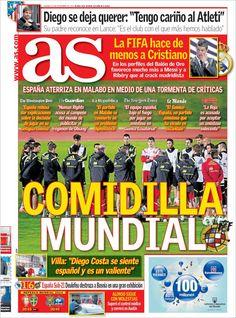 Los Titulares y Portadas de Noticias Destacadas Españolas del 15 de Noviembre de 2013 del Diario AS ¿Que le pareció esta Portada de este Diario Español?