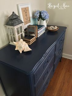 Nautical Dresser in Annie Sloan Napoleonic Blue