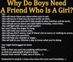 Girls need to make sure they respect their guys!!