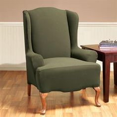 Stretch Honeycomb Slipcover Wing Chair | Wing Chair Covers | Brylanehome