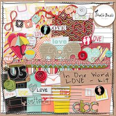In One Word: LOVE {Kit} by Studio Basic