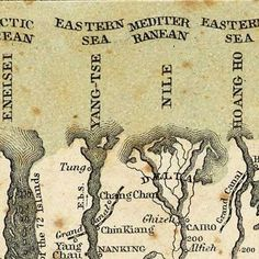 Colton's #map of Comparative Mountains and Rivers (1855)