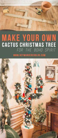 61 Ideas For Diy Christmas Tree Decorating Decoration Cactus Christmas Trees, Christmas Tree Themes, Christmas Projects, Christmas Wreaths, Christmas Traditions, Western Christmas Decorations, Christmas Cookies, Christmas Ideas, Holiday Decor