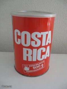 Costa Rica tin can Coffee Tin, Good Old Times, Old Ads, Finland, Costa Rica, Childhood Memories, Pop Culture, Retro Vintage, Nostalgia