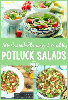 30 Crowd Pleasing Potluck Salad recipes.  I also need to buckle down on my eating habits in order to address my adrenal fatigue, and there's no more delicious way than the list found here!