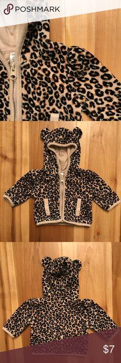 Gently Worn 4t Size Trend Mark Koala Kids Leopard Animal Print Fleece Hoodie