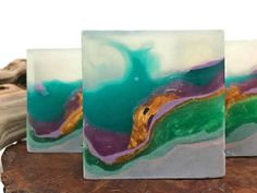 The Northern Light – Polished Agate Square Crystal Hand / Bath Bar Soap (Woodland Elves Fragrance Scent) : - Easy Crafts for All Handmade Soaps, Handmade Headbands, Handmade Rugs, Handmade Crafts, Woodland Elf, Soap Melt And Pour, Soap Maker, Glycerin Soap, Lotion Bars