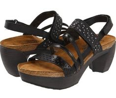 Naot Footwear Relate Women's Sandals Brushed Black Leather : 41 (US Women's 10) M
