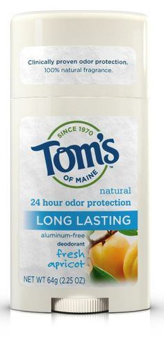 Natural Deodorant Stick Toms Of Maine Long-Lasting Care Apricot 2.25 oz #TomsOfMaine #natural