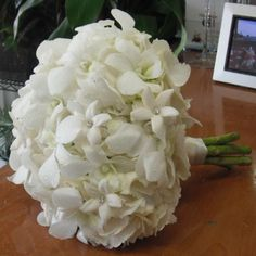 White Bridal Hand-Tied Bouquet with Crystals