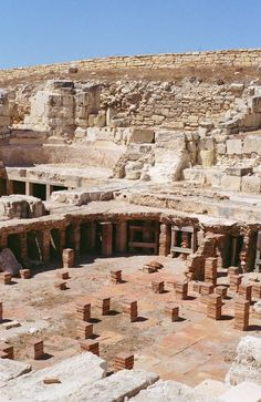 Baths of the important city-state of Ancient Kourion (Curium in Latin), on the south-western coast of Cyprus Cyprus Ancient Ruins, Ancient Greece, Malta, Akrotiri And Dhekelia, Cyprus Island, Cyprus Greece, English Castles, Limassol, Europe