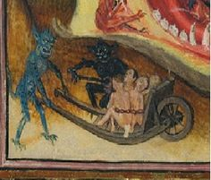 Wheelbarrow. Detail from the Hours of Catherine of Cleves, Ms M 945 fol168v