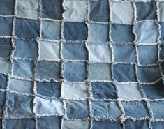 How to Make a Raggedy Denim Quilt with Faux Fur - InfoBarrel