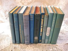 blue book collection 11 aqua teal vintage home by rivertownvintage, $53.95